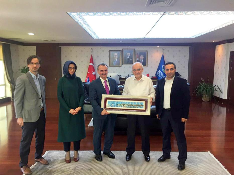 İSTTELKOM A.Ş. Genel Müdürü Yusuf KOTİL, Beykoz Belediye Başkanı Yücel Çelikbilek'i Ziyaret Etti